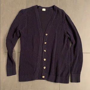 J.Crew Open Knit Button Front Cardigan, Large